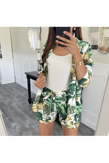 SET JACKE + HOSE TROPICAL 8784 WEIß