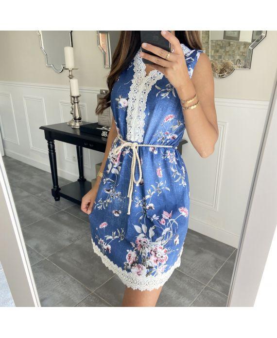 DRESS FLOWER 7769i BLUE