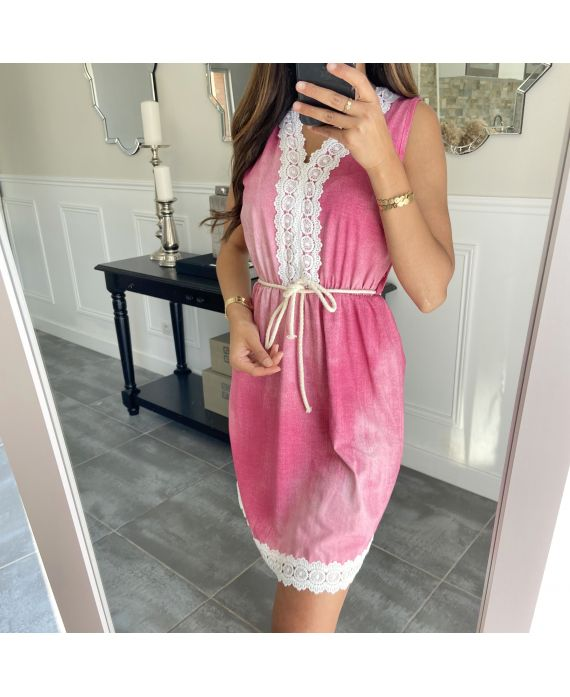 DRESS LACE 7769 FUSHIA