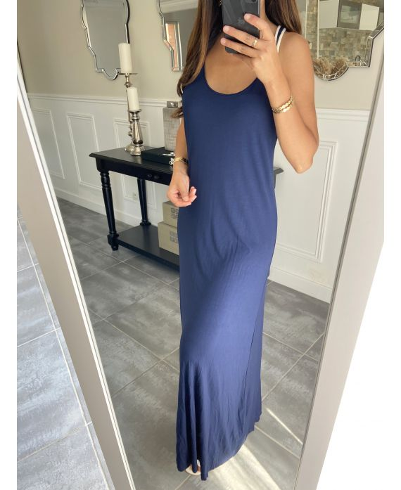 BACK LONG DRESS TIE 5851 NAVY BLUE