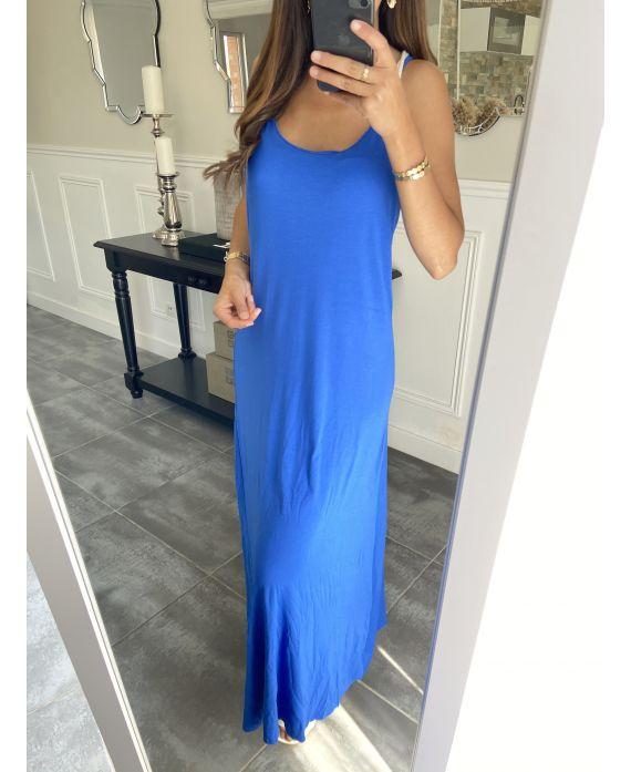 BACK LONG DRESS TIE 5851 ROYAL BLUE