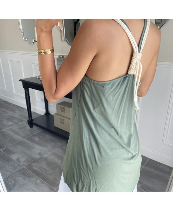 TOP BACK TIE 5850 MILITARY GREEN