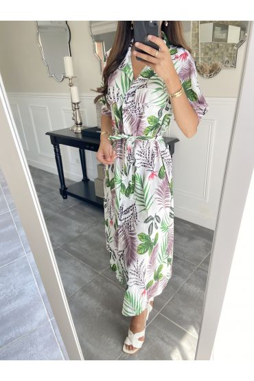 LONG DRESS SHIRT TROPICAL 9481 WHITE
