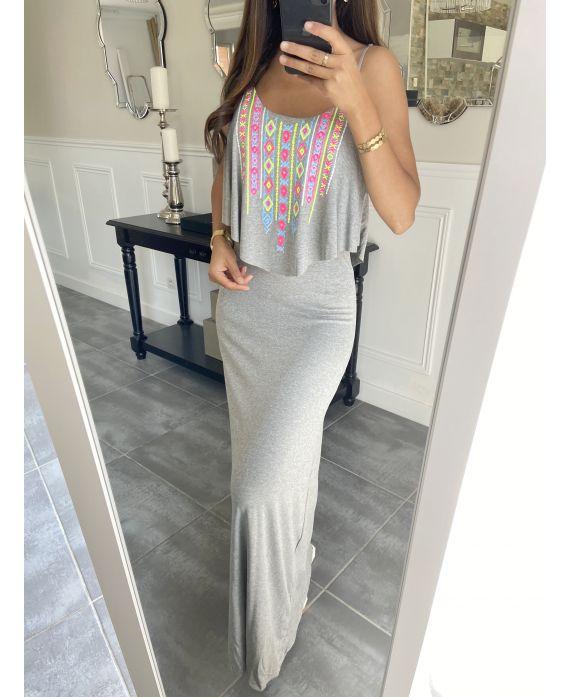 LONG DRESS AZTEQUE 3998 GRAY