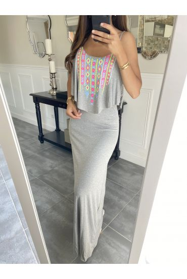 LONG DRESS AZTEQUE 3998 GRAY