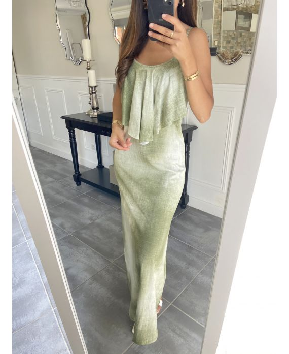 LONG DRESS 5892 MILITARY GREEN