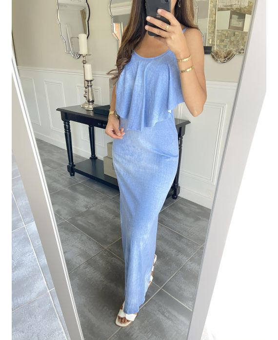LONG DRESS 5892 BLUE