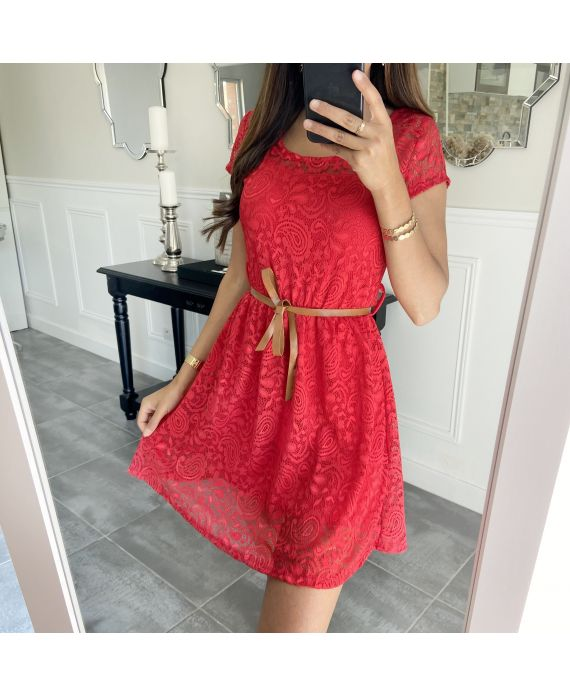 DRESS LACE 2292 RED