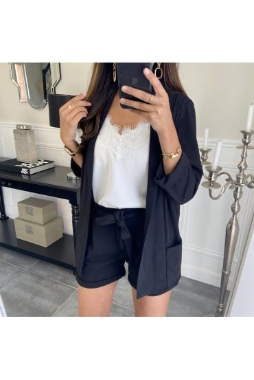 ENSEMBLE VESTE + SHORT 8784 NOIR