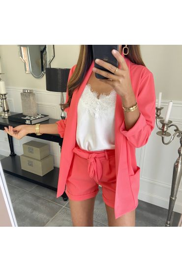 ENSEMBLE VESTE + SHORT 8784 CORAIL