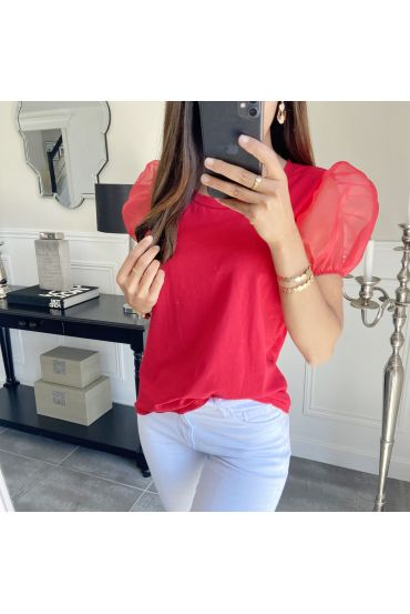 T-SHIRT PUFFED SLEEVES 7350 RED