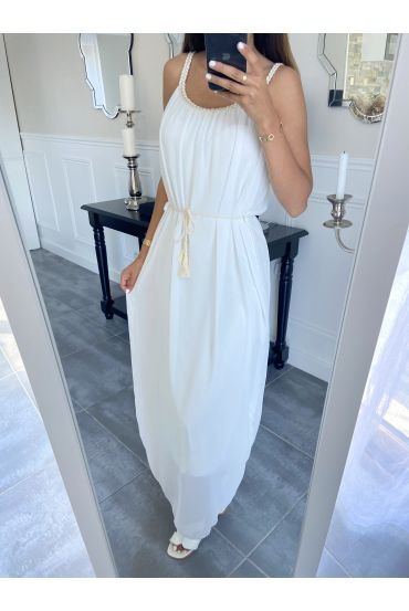 LONG DRESS CLOAK 8829 WHITE