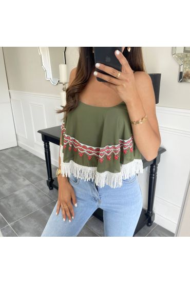 TOP AZTEQUE 5802 MILITARY GREEN