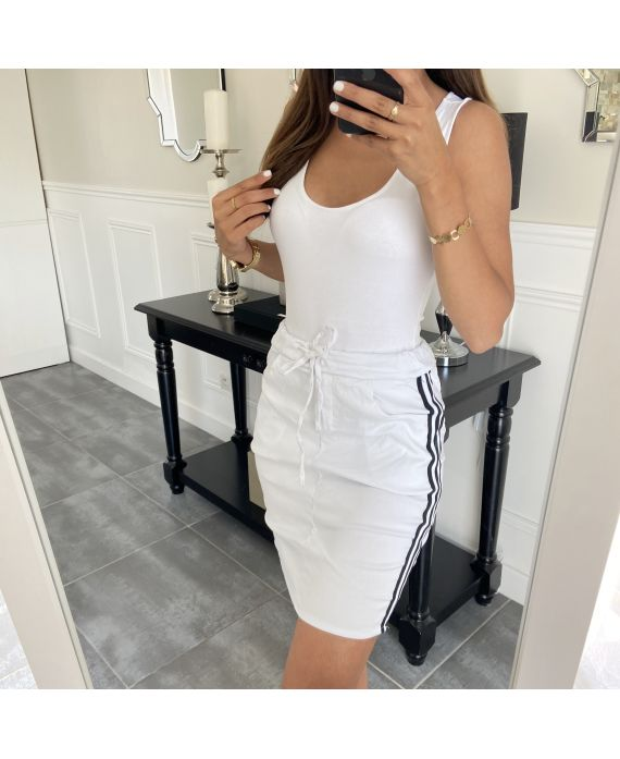 SKIRT EFFECT RUFFLED A BAND 1234 WHITE