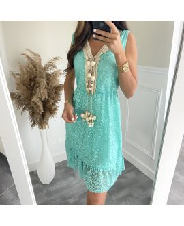DRESS LACE HAS POM-POMS 8834 PASTEL GREEN
