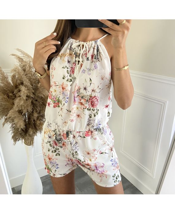 COMBINATION SHORTS FLORAL 5092 WHITE