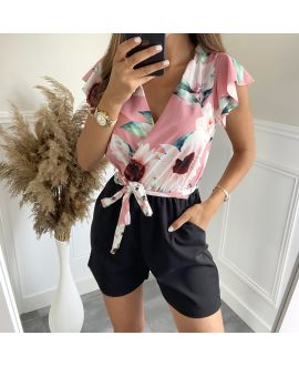 COMBINATION SHORTS FLOWERS 7883 PINK