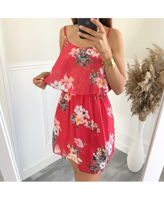 DRESS FLOWER 3008 RED