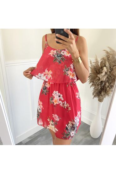 DRESS FLOWER 3008 RED