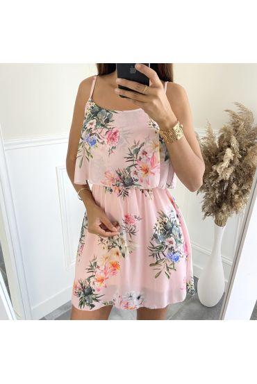 DRESS, FLOWER-3008 PINK