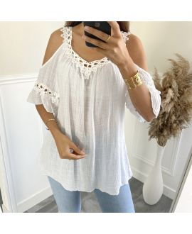 TUNIC LACE EFFECT DELAVE 2801 WHITE