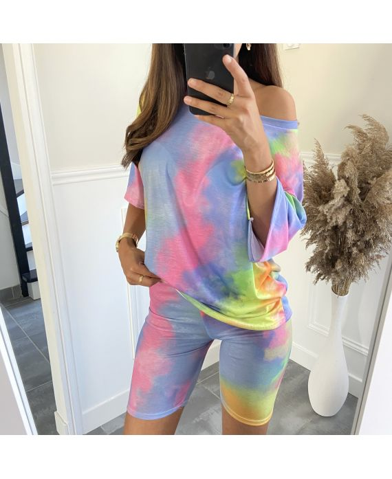 SET T-SHIRT + SHORTS TIE-DYE 9511I1