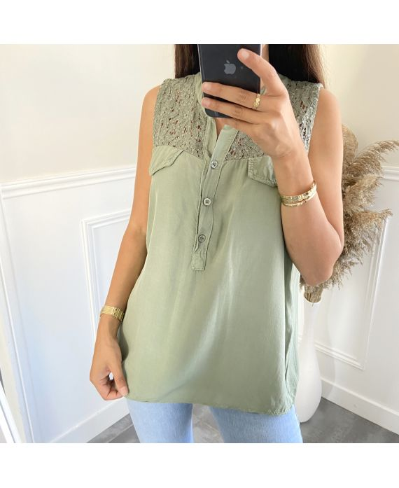 BLOUSE LACE 2809 MILITARY GREEN