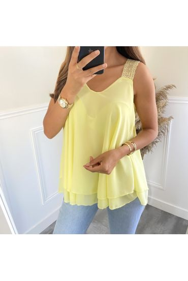 TOP HAS SHOULDER STRAPS 6551 YELLOW