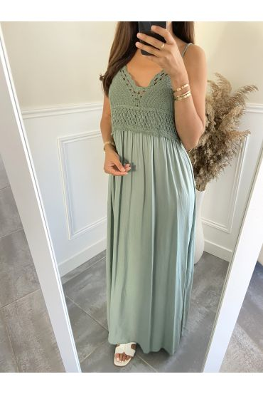 LONG DRESS 2805 MILITARY GREEN