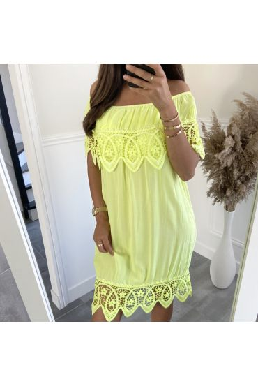 DRESS LACE 2804 YELLOW FLUO