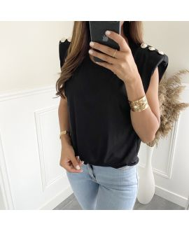 T-SHIRT EPAULETS 2810 BLACK