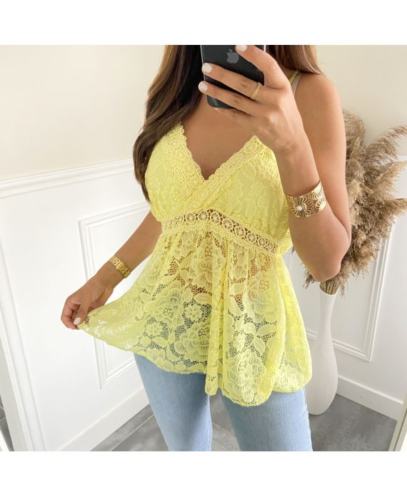 LACE TOP 2818 YELLOW