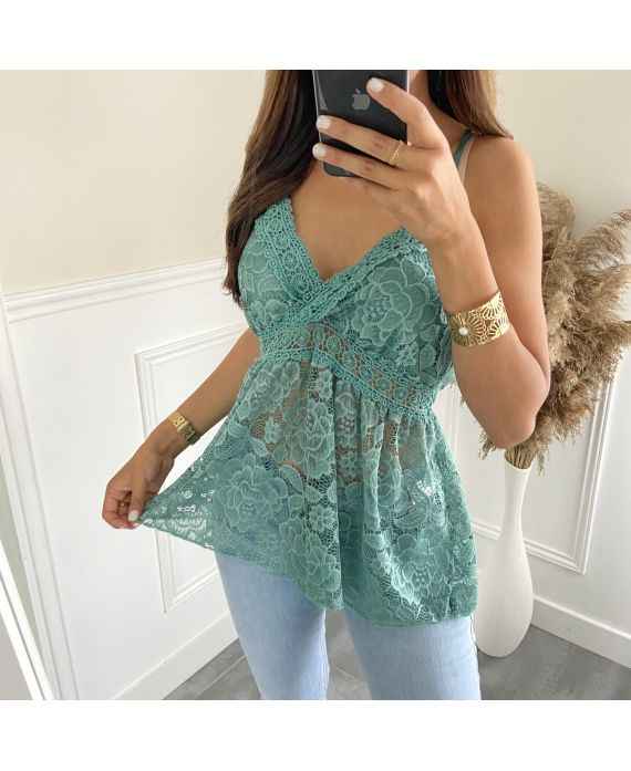 LACE TOP 2818 GREEN