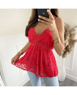 LACE TOP 2810 RED