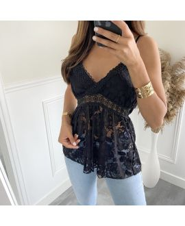 LACE TOP 2819 BLACK