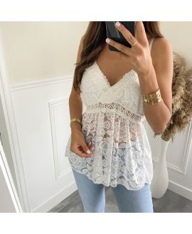 LACE TOP 2810 WHITE