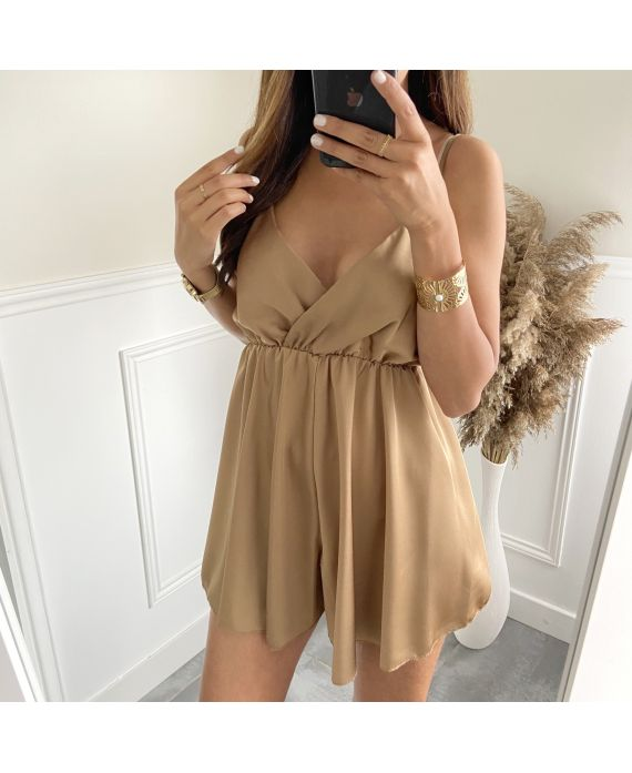 COMBINATION SHORT SATIN 2821 CAMEL