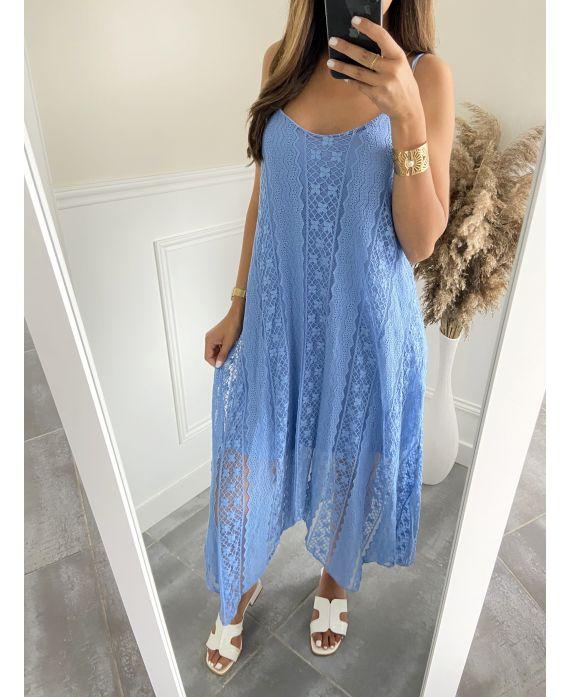 LONG DRESS LACE 2819 BLUE