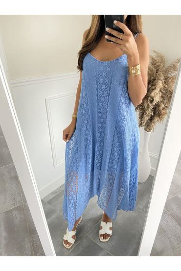 LONG DRESS LACE 2819 BLUE