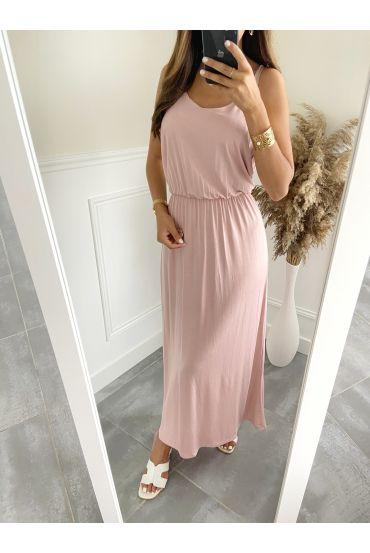 LONG DRESS 2811 ROSE
