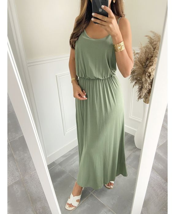 LONG DRESS 2811 MILITARY GREEN