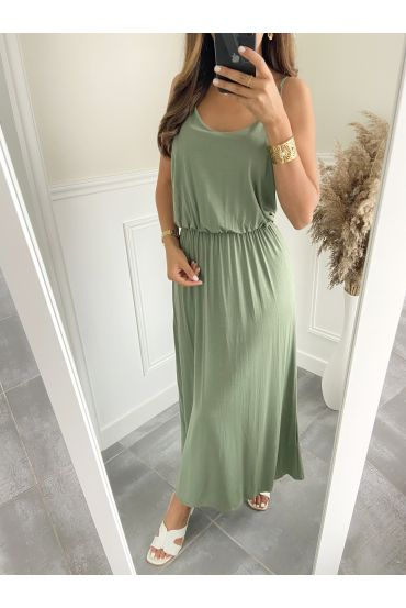 LONG DRESS 2811 MILITARY GREEN