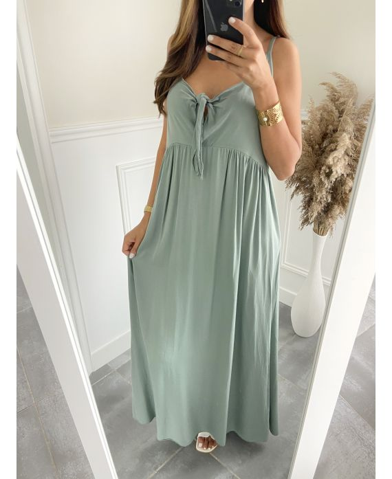 DRESS HAS SHOULDER STRAPS 2811 MILITARY GREEN