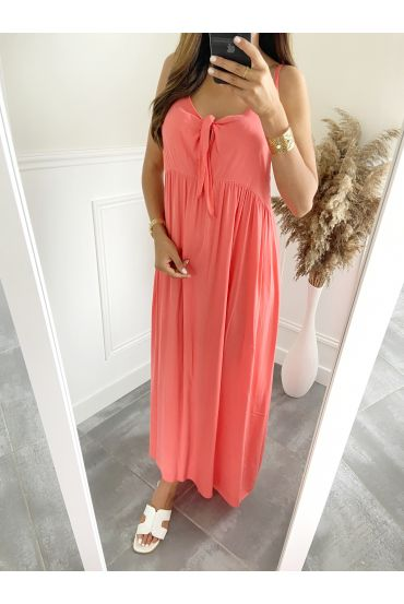 DRESS HAS SHOULDER STRAPS 2811 CORAL