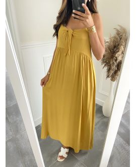 DRESS HAS SHOULDER STRAPS 2811 MUSTARD