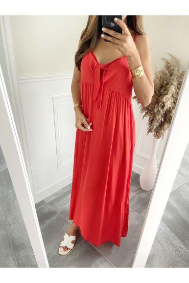 DRESS HAS SHOULDER STRAPS 2811 RED