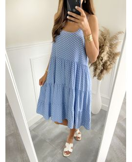 ROBE EVASEE HAS PEAS 2825 BLUE