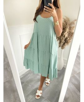 ROBE EVASEE HAS PEAS 2825 PASTEL GREEN