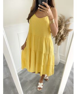 ROBE EVASEE HAS PEAS 2825 YELLOW