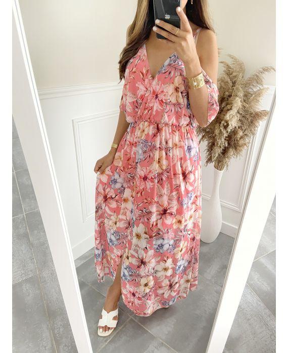 LONG DRESS 9491 CORAL